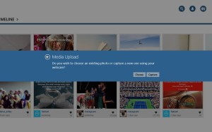 upload foto Instagram Windows 8