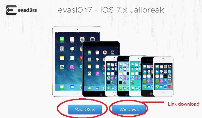 """... dan jalankan software evasi0n-nya dan klik tombol """"Jailbreak"""